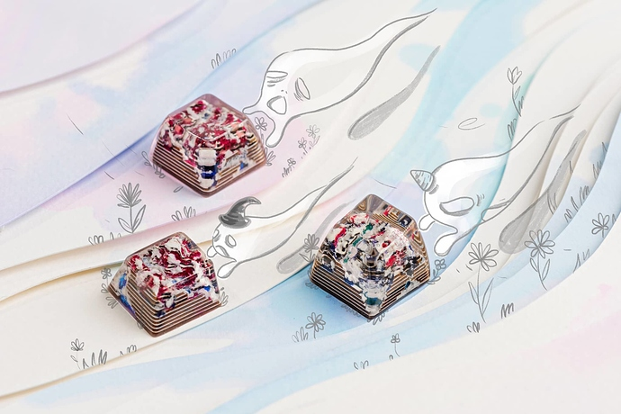 Jelly-Key-A-winter-themed-forbidden-realm-artisan-keycaps-for-mechanical-keyboards-artwork-2