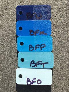 Color samples in outdoor lighting
