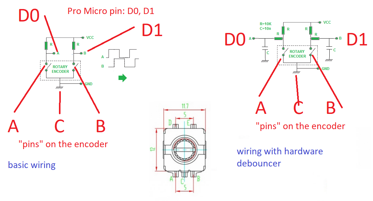 How to wire a rotary encoder fit in a matrix? - Makerspace - KeebTalk